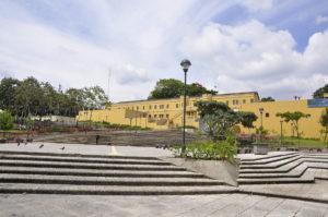 Democracy Plaza and the Bellavista Fortress.
