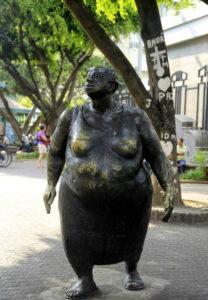 Bronze statue in Central Avenue San Jose known as La Chola.