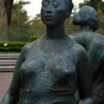 Bronze statue of women walking at the Costa Rica Art Museum.